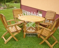 Terrace with 4 chairs